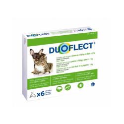 Duoflect Chat pipettes anti puces et anti tiques Pour petit chien 2 à 10 kg et chat > 5 kg 6 pipettes