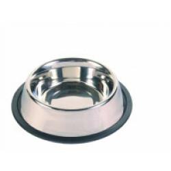 Ecuelle pour chien lourde et anti-dérapante en acier inox Trixie Contenance 0,45 litre Diamètre 14 cm