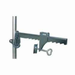 Support serrage étau 20 cm pour filet de sécurité pour balcon vert olive