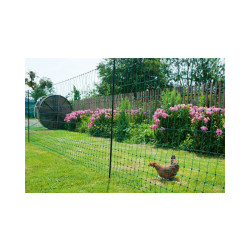 Filet poules 25 m double pointe AKO vert Hauteur 112 cm