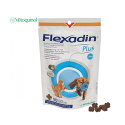Flexadin Plus 90 bouchées contre l'arthrose pour chien et chat - de 10 kg