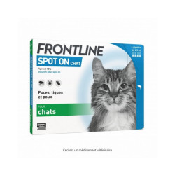 Frontline Spot On soin antiparasitaire pour chats Boîte 1 Pipette