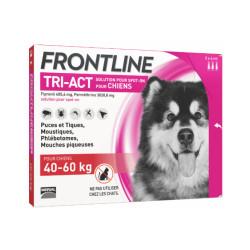 Frontline Tri-Act anti parasitaire Spot on pour chien 40 à 60 kg (3 pipettes 6ml)