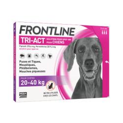 Frontline Tri-Act anti parasitaire Spot on pour chien 20 à 40 kg (3 pipettes 4ml)
