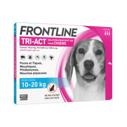 Frontline Tri-Act anti parasitaire Spot on pour chien 10 à 20 kg (3 pipettes 2ml)