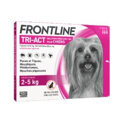 Frontline Tri-Act anti parasitaire Spot on pour chien 2 à 5 kg (3 pipettes 0.5ml)