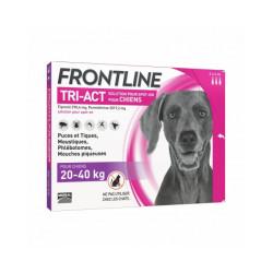 Frontline Tri-Act pipettes antiparasitaires pour chien 20 à 40 kg (3 pipettes 4ml)