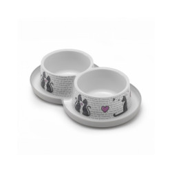 Gamelle pour chat Cats in Love Anka Contenance 2 x 350 ml