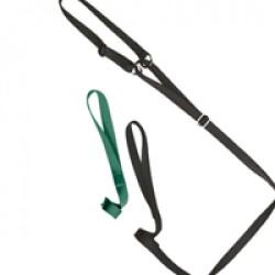 Laisse collier nylon verte réglable pour chien
