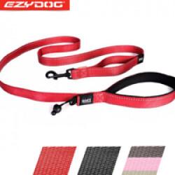 Laisse rouge pour chien Soft Trainer Ezydog 1.8 m x 25 mm