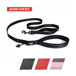 Laisse noire pour chien Soft Trainer Ezydog 1.8 m x 25 mm