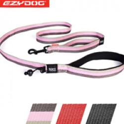 Laisse rose pour chien Soft Trainer Ezydog 1.8 m x 25 mm