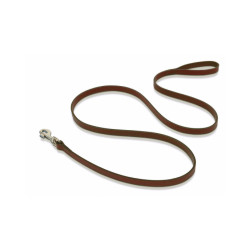 Laisse longue en cuir pour chien environ 2 mètres