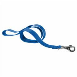 Laisse unie bleu nylon pour chien T1 1,10 m Sangle 10 mm