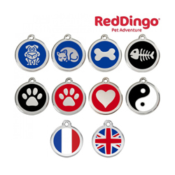 Médaille Reddingo à personnaliser chien, chat et maître 20 mm Chien Bleu