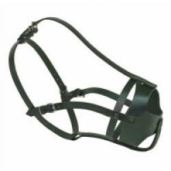 Muselière chien type police T9 Boxer fem 53 à 59 cm Noire