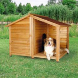 Niche chalet en bois Natura Trixie pour chien Medium Large - 120 x 90 x H 105 cm
