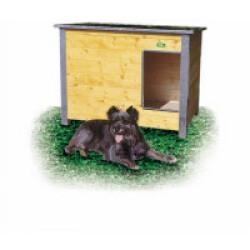 Niche isolée en bois pour chien avec toit simple pan incliné Mini