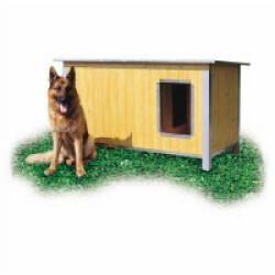 Niche isolée en bois pour chien avec toit simple pan incliné Extra Large