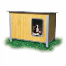 Niche isolée en bois pour chien avec toit simple pan incliné Maxi