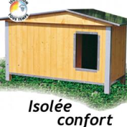 Niche pour chien confort isolée et toit double pan
