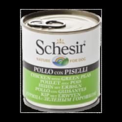 Pâtée pour chien Schesir en gelée - Boîte 285 g Poulet avec pois