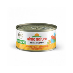 Pâtée pour chat Almo Nature HFC Natural - Lot de 6 x 70 g Filet de poulet