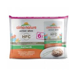 Pâtée pour chat Almo Nature HFC Natural - Multipack 6 pochons x 55 g