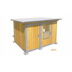 Poulailler durable en bois et métal avec 2 box XSmall - 2,50 x 2 m