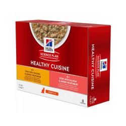 Pâtées mijotées Healthy Cuisine Hill's pour chat adulte au Poulet/Saumon