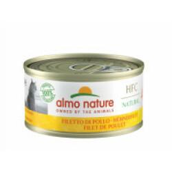 Pâtée pour chat Almo Nature HFC Natural - Lot de 6 x 70 g Filet de poulet