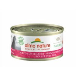 Pâtée pour chat Almo Nature HFC Natural - Lot de 6 x 70 g Poulet et Foie