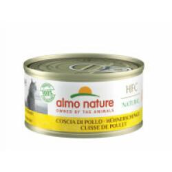 Pâtée pour chat Almo Nature HFC Natural - Lot de 6 x 70 g Cuisse de poulet