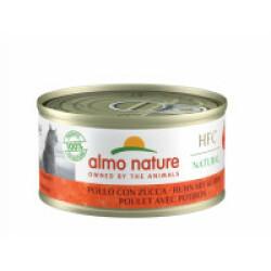 Pâtée pour chat Almo Nature HFC Natural - Lot de 6 x 70 g Poulet et Crevettes avec potiron