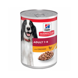 Pâtée pour chien Hill's Science Plan Canine Adulte - Lot de 12 boîtes x 370 g Poulet