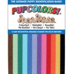 Ruban d'identification Pupcolors pour chiot - Lot de 12