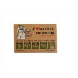 Ramasse crottes en papier jetable - lot de 20 sachets