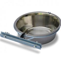Support avec écuelle simple Eco pour parois de chenil pour chien 2,5 L