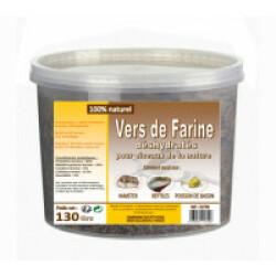 Vers de farine déshydratés pour poules, poussins et oiseaux de la nature Seau 130 g